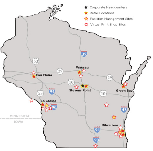 DigiCOPY Wisconsin Locations
