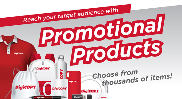 DigiCOPY promotional products - custom mugs, shirts, pens and more!